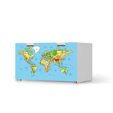 Möbelfolie IKEA Stuva / Malad Banktruhe - Geografische Weltkarte
