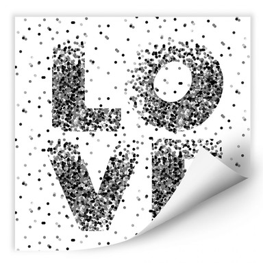 Wallprint Konfetti in Love - quadratisch
