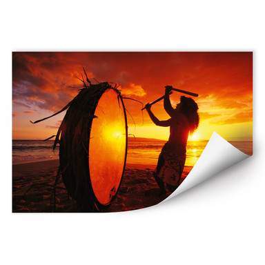 Wallprint NG Hawaiianischer Trommler