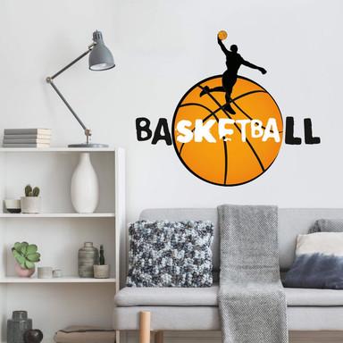 Wandsticker Basketball Slogan