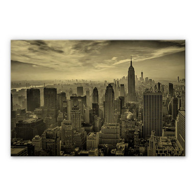 Alu-Dibond-Goldeffekt Schilbe - Hazy Gotham