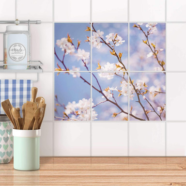 Fliesenaufkleber hoch - Apple Blossoms