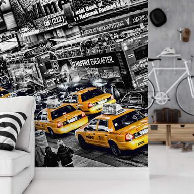 Fototapete Papiertapete New York Cabs - Bild 1