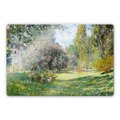 Glasbild Monet - Der Park Monceau