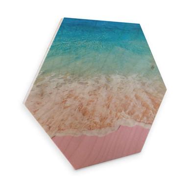 Hexagon - Holz Birke-Furnier - Fuentes - Pink Sand