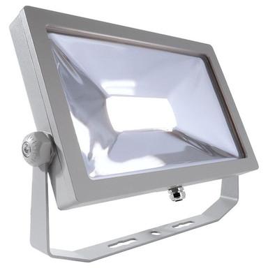LED Strahler Flood Smd II in Silber und Transparent 50W 4192lm IP65