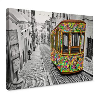 Leinwandbild Ben Heine - Tram in Lissabon
