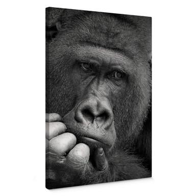 Leinwandbild Braun - Der Gorilla