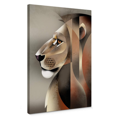 Leinwandbild Braun - Lion