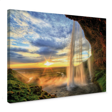 Leinwandbild Seljalandsfoss Wasserfall