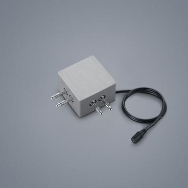 Lichtschienen 90°-Verbinder Vigo in nickel-matt mit Kabeleinspeisung