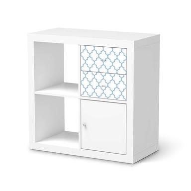 Möbelfolie IKEA IKEA Expedit Regal Schubladen - Retro Pattern - Blau