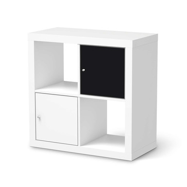 Möbelfolie IKEA Kallax Regal 1 Türe - Schwarz