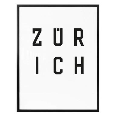 Poster - Typographie Zürich