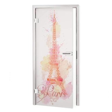 Sichtschutzfolie La Tour Eiffel Aquarelle