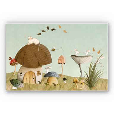 Wandbild Loske - Mäusegarten