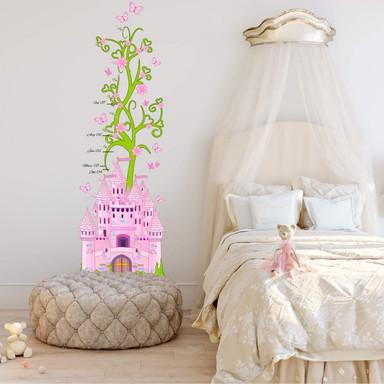 Wandsticker Messleiste Prinzessinnenschloss