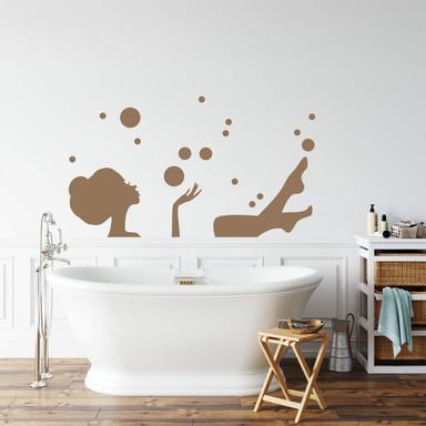 Wandtattoo Ein entspanntes Bad