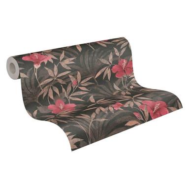 A.S. Création Vliestapete Cuba Blumentapete floral braun, rot, schwarz