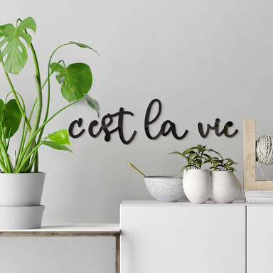 Acrylbuchstaben C'est la vie