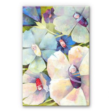 Acrylglasbild Blanz - Blütenbabies