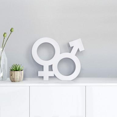 Dekobuchstabe Gender-Symbol Hetero