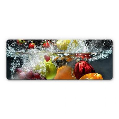 Glasbild Erfrischendes Obst Panorama - Bild 1