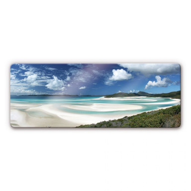 Glasbild Whitehaven Beach Panorama