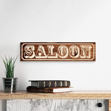 Holzschild Saloon