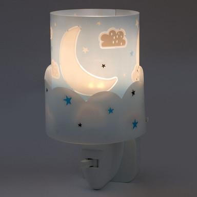LED Kinderzimmer Nachtlicht Moon in Blau