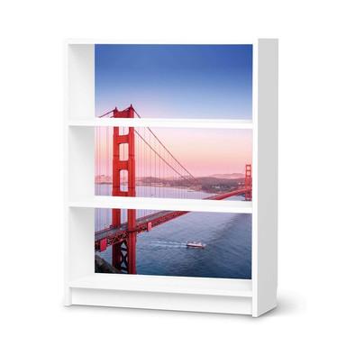 Möbelfolie IKEA Billy Regal 3 Fächer - Golden Gate