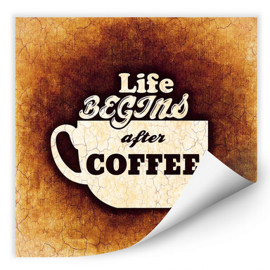 Wallprint Life begins after Coffee 02