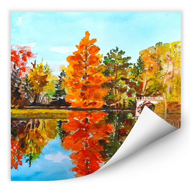 Wallprint Toetzke - Indian Summer - quadratisch