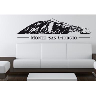 Wohnansicht - Wandtattoo Monte San Giorgio