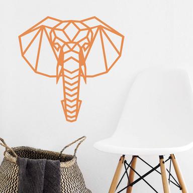Wandtattoo Origami Elefantenkopf