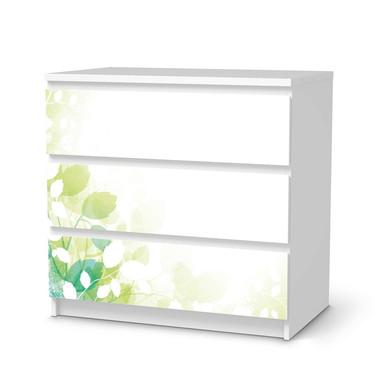 Klebefolie IKEA Malm Kommode 3 Schubladen - Flower Light