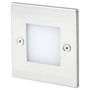 LED Wandeinbauleuchte Frol, nickel, IP65. 85x45x85 mm