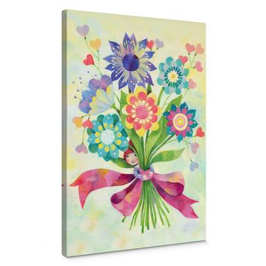 Leinwandbild Blanz - Blumenstrauss