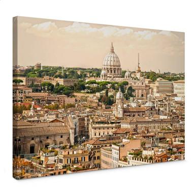 Leinwandbild Rom Panorama