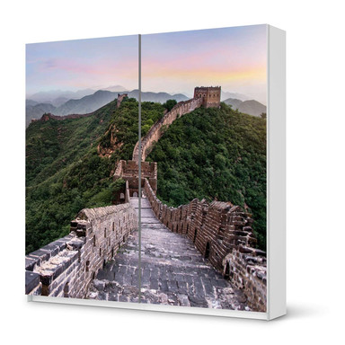 Möbel Klebefolie IKEA Pax Schrank 201cm Höhe - Schiebetür - The Great Wall