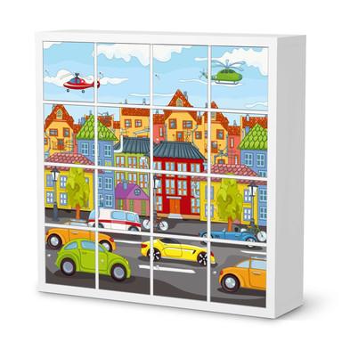 Möbelfolie IKEA Kallax Regal 16 Türen - City Life