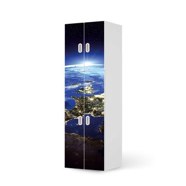 Möbelfolie IKEA Stuva / Fritids - 2 grosse und 2 kleine Türen - Earth View