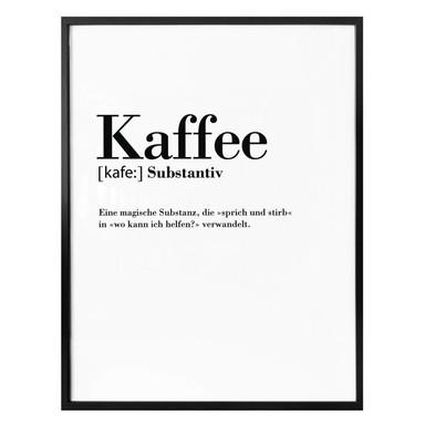Poster Grammatik - Kaffee