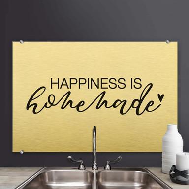 Spritzschutz Happiness is homemade