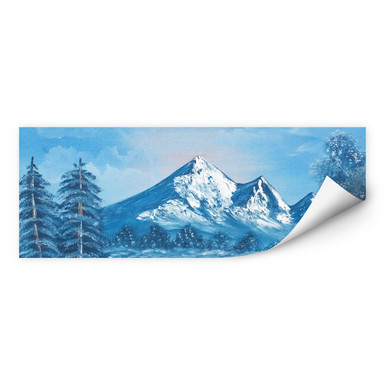 Wallprint Toetzke - Alpsee in den Bergen - Panorama