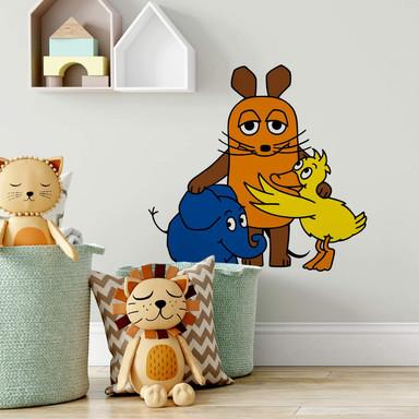 Wandsticker Die Maus Familienporträt