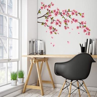 Wandsticker Kirschblütenzweig