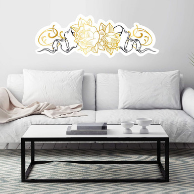 Wandsticker LA Ink Golden Roses