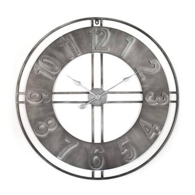 XXL Metall Wanduhr Vintage Industrial - Rund Ø80cm