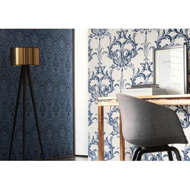 Architects Paper Mustertapete Textiltapete Tessuto 2 Blau